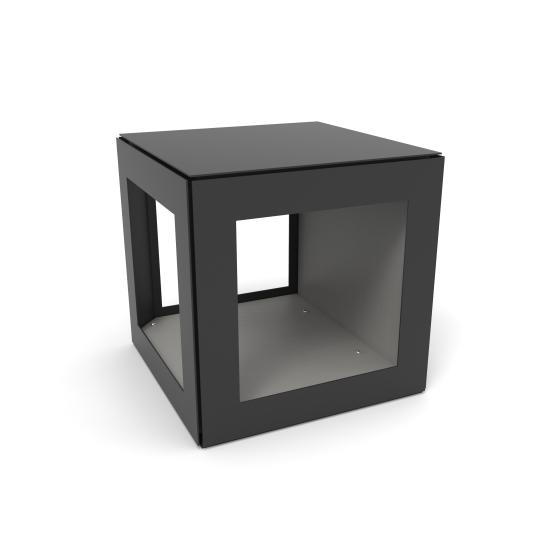 rangement 3 faces pour stockage bois de chauffage. Black Bedroom Furniture Sets. Home Design Ideas