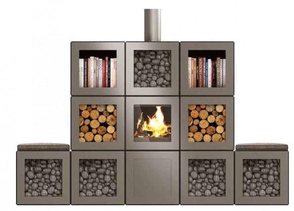 un rangement bois de chauffage design speeta. Black Bedroom Furniture Sets. Home Design Ideas